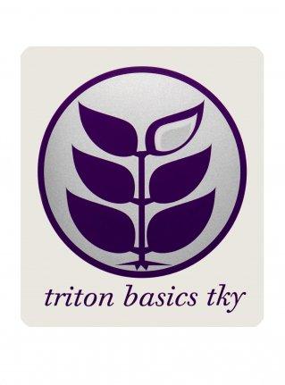 t Circle Logo Sticker08 / Silver x D-Purple