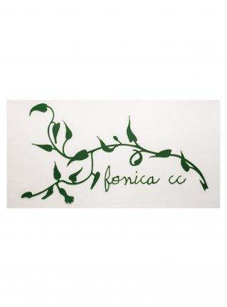 f Ivy Logo Sticker08  (die cut)  Green