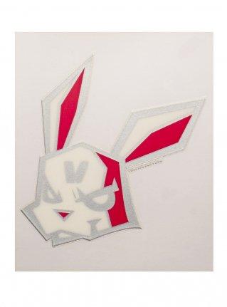 v Bunny sticker08 (die cut)  Silver x Peach