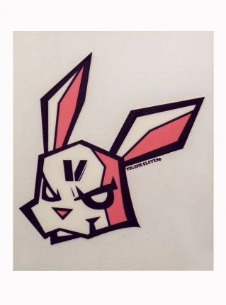 v Bunny sticker08 (die cut)  D-Purple x Pink