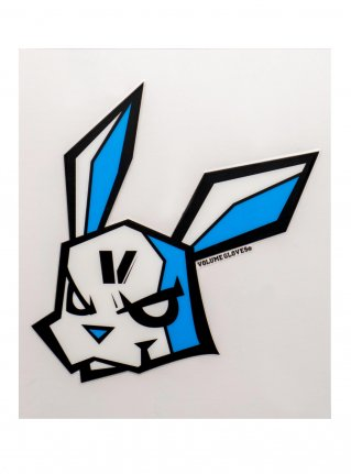 v Bunny sticker08 (die cut)  Black x Blue