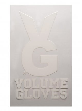 v VG Bunny sticker08  (die cut)  White