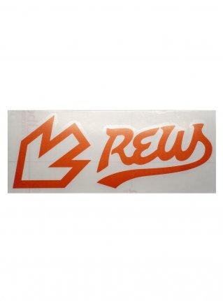 r F LIGHT LINE sticker (die cut)  Orange