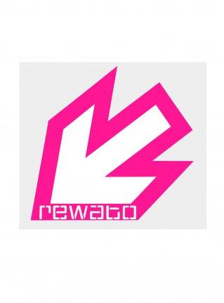 r New Arrow logo sticker (die cut)  r-pink x white