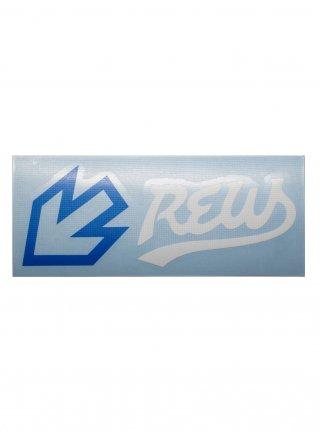 r F LIGHT LINE sticker (die cut)  Blue x White