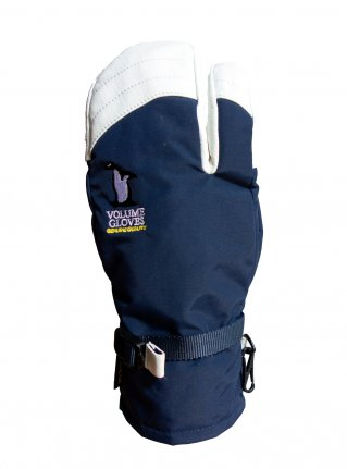 v THREE KING  [ INSERT : GORE-TEX ] NAVY / WHITE REAL LEATHER