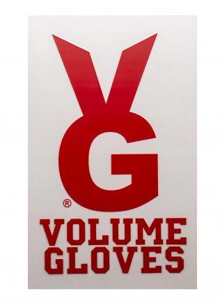 v VG Bunny sticker    (die cut)  Red