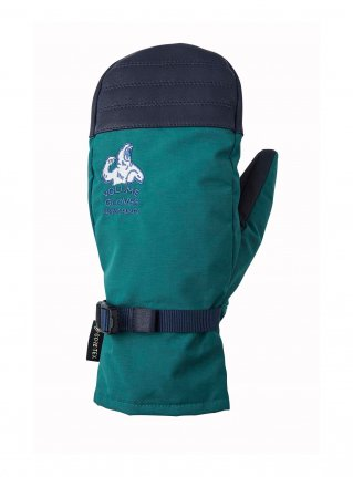 v MITTEN KING / D-GREEN x NAVY LEATHER