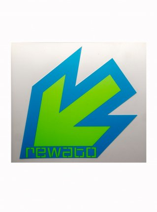 r New Arrow logo sticker11 (die cut)  blue x r-green