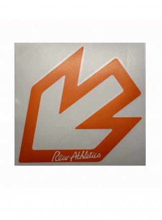 r New Arrow logo sticker 14 (die cut)  Orange