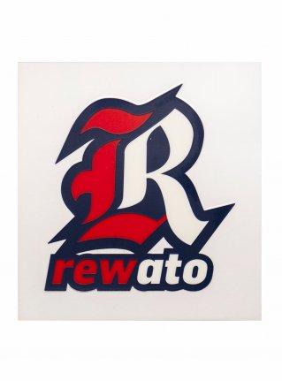 r Logo sticker (Die Cut)  Red x Navy