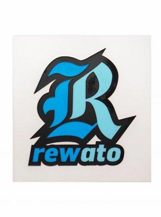 r Logo sticker (Die Cut)  Blue x L-blue