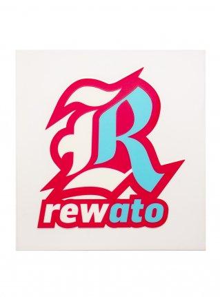 r Logo sticker (Die Cut) Pink x L-blue