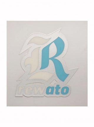 r Logo sticker (Die Cut) Sliver x L-blue