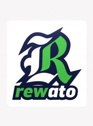 r Logo sticker /  Green x White