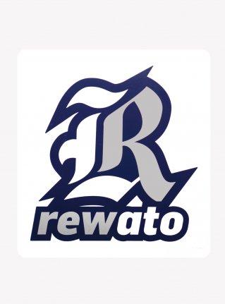 r Logo sticker /  Sliver x White