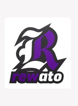 r Logo sticker / Purple x White