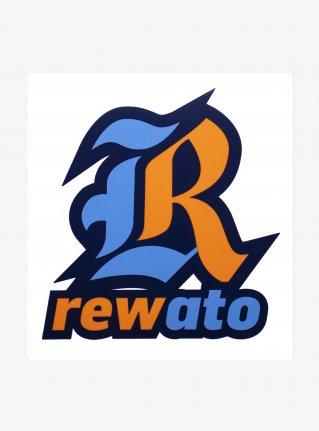 r Logo sticker / Orange x Blue