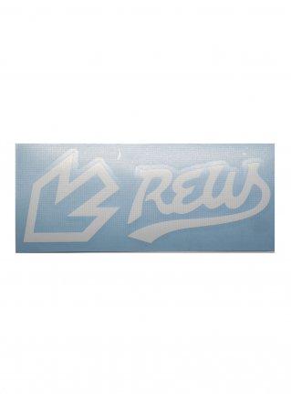 r F LIGHT LINE sticker (die cut)  White
