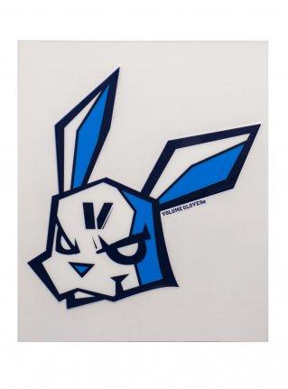 v Bunny sticker (die cut)  Navy x D-Blue