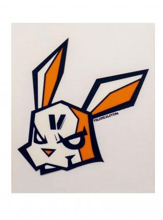 v Bunny sticker08 (die cut)  Navy x Orange