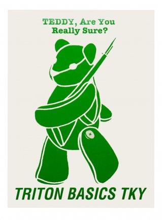 t TEDDY  Sticker /  Green