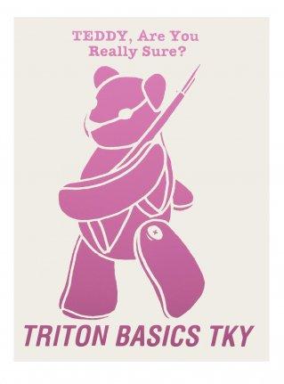 t TEDDY  Sticker /  Pink