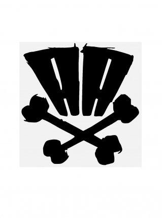 r AA bones sticker09 (die cut)  Black 中