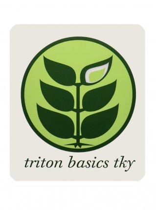 t Circle Logo Sticker08 / L-Green x D-Green