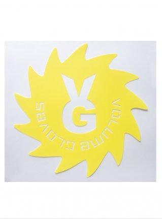 v Wheel Sticker09 (die cut)  Yellow