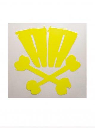 r AA bones sticker09 (die cut)  Yellow