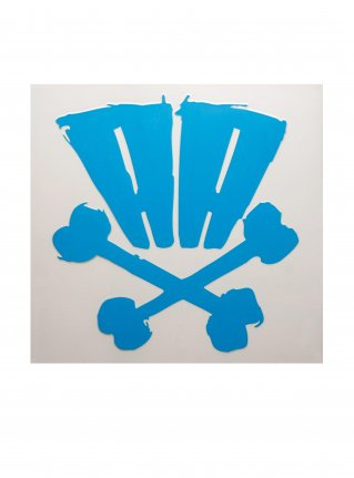 r AA bones sticker09 (die cut)   Blue