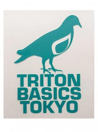 t Pigeon Diecut sticker09  (die cut)  Emerald