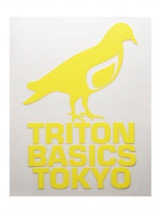 t Pigeon Diecut sticker09  (die cut)  Yellow