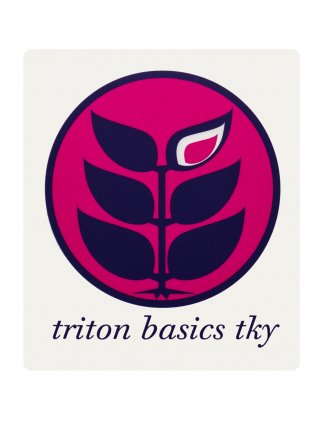 t Circle Logo Sticker09 / R-Pink x D-Purple