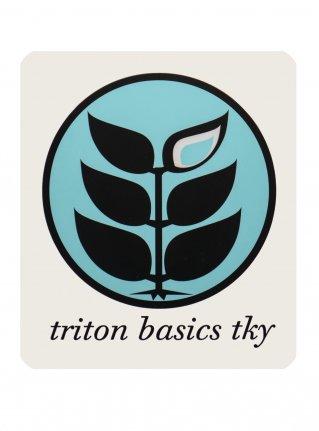 t Circle Logo Sticker09 / Mint x Black