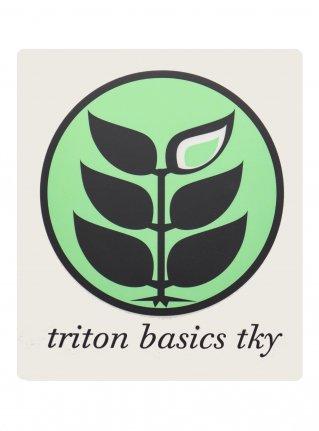t Circle Logo Sticker09 / Emelard x D-Gray