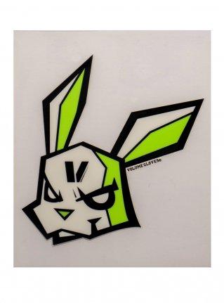 v bunny sticker09 (die cut)  Black x R-Green