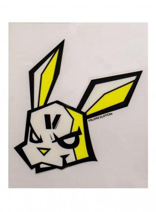 v bunny sticker09 (die cut)  Black x Yellow