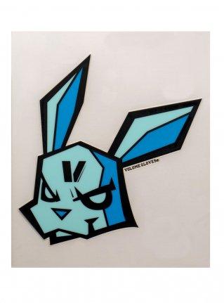 v bunny sticker09 (die cut)  Blue  x Blue x Mint