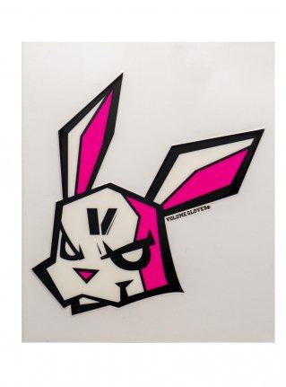 v bunny sticker09 (die cut)  Black x R-Pink