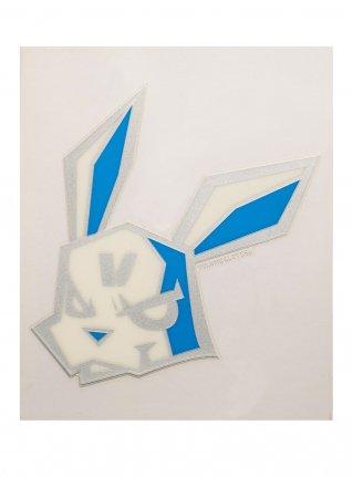 v Bunny sticker10 (die cut)  L-Blue x Silver
