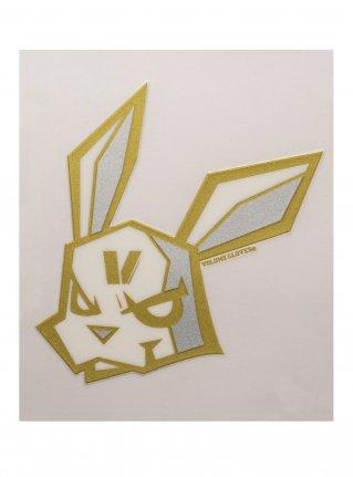 v Bunny sticker10 (die cut) / gold x silver