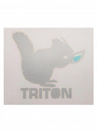 t Chipmunk Diecut sticker10 (die cut)  Silver
