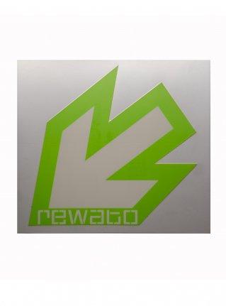 r New Arrow logo sticker11 (die cut)  r-green x white
