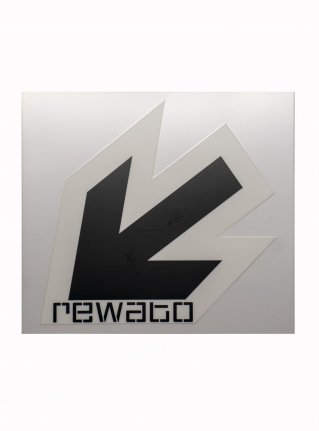r New Arrow logo sticker11 (die cut)  white x black