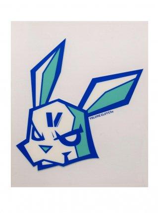 v Bunny sticker11 (die cut)  Blue x Emerald