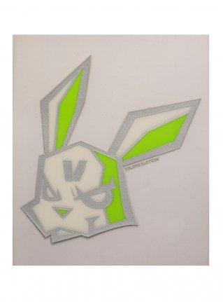 v Bunny sticker11 (die cut)  Silver x R-Green
