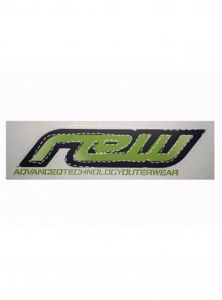 rew logo die cut STICKER  (die cut)  Green 大