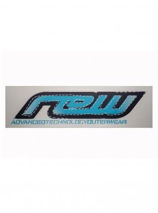 rew logo die cut STICKER  (die cut)  Blue 大